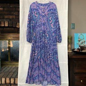NWT Spell & The Gypsy City Lights Dress In Indigo